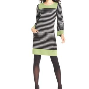 Eliza J Striped Sweater Dress w/ Pockets